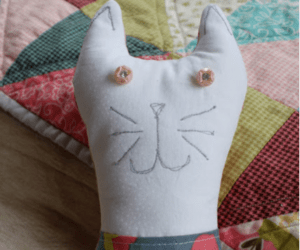 kitty sewing plush