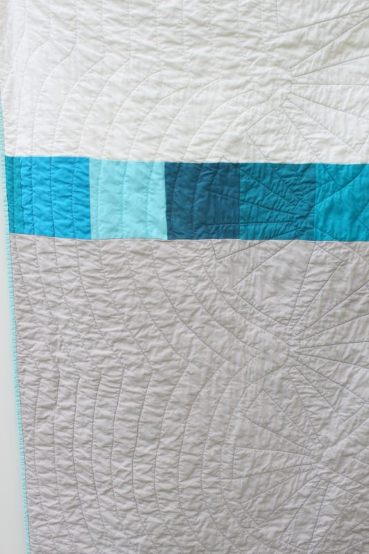 Blue Wave Quilt Back