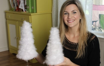 Holiday Feather Tree DIY