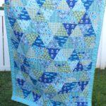 Custom Beachy Blue Twin Quilt