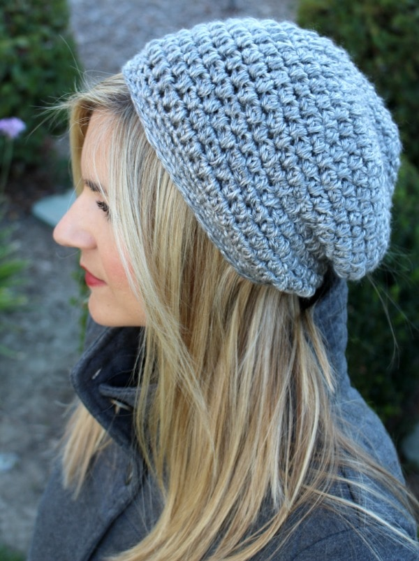 slightly slouchy crochet hat