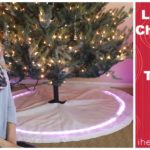 Light Up Christmas Tree Skirt Tutorial