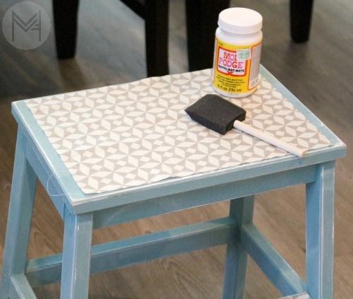 DIY Fabric Step Stool