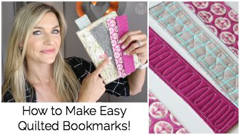 Quilted Bookmark Tutorial