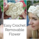 Easy Removable Crochet Flower Tutorial