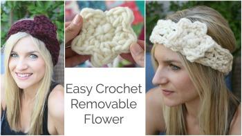 Easy Removable Crochet Flower Tutorial
