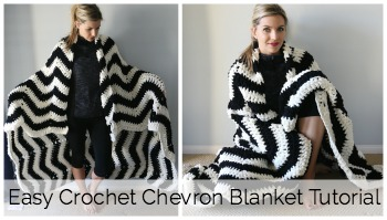 Easy Crochet Chevron Blanket Tutorial