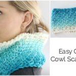 Easy Crochet Cowl Scarf Tutorial