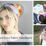 How to Sew and Easy Fabric Headband