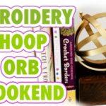 Embroidery Hoop Orb Bookend DIY