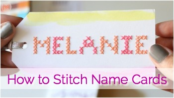 How to Cross Stitch Name Cards: Mother's Day Brunch DIY Collaboration