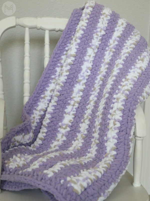 Beginner CrochetBaby Blanket with Border Tutorial