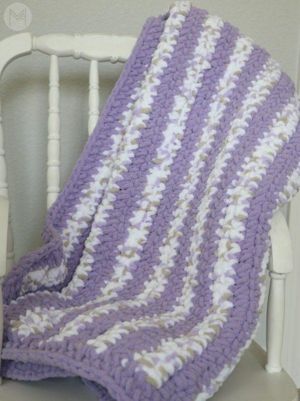 crochet stripes baby blanket