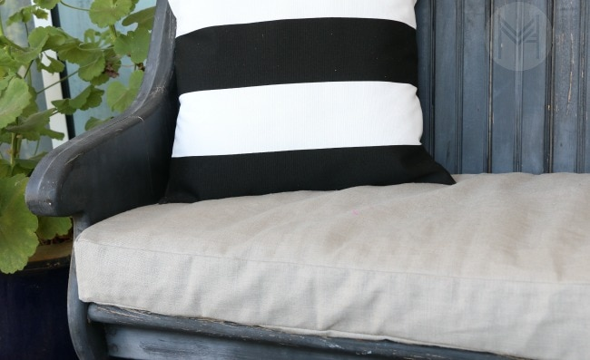 How To Sew A Custom Bench Cushion In 2 Hours