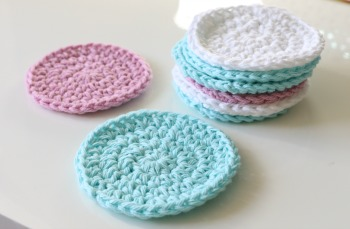Round Crochet Face Scrubbies