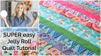 Easy Beginner Jelly Roll Quilt Tutorial
