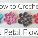 How to crochet a 6 petal flower