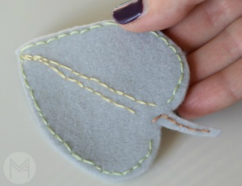 Easy Felt Leaf Garland Tutorial