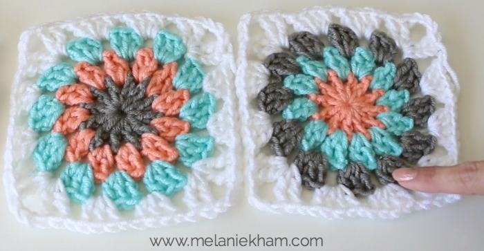 How To Crochet A Sunburst Granny Square Free Pattern And Video