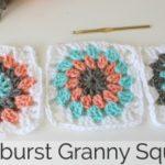 How to Crochet a Sunburst Granny Square