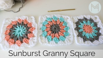 How to Crochet a Sunburst Granny Square