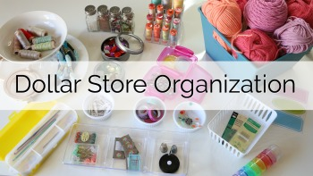 Dollar Store Craft Organization