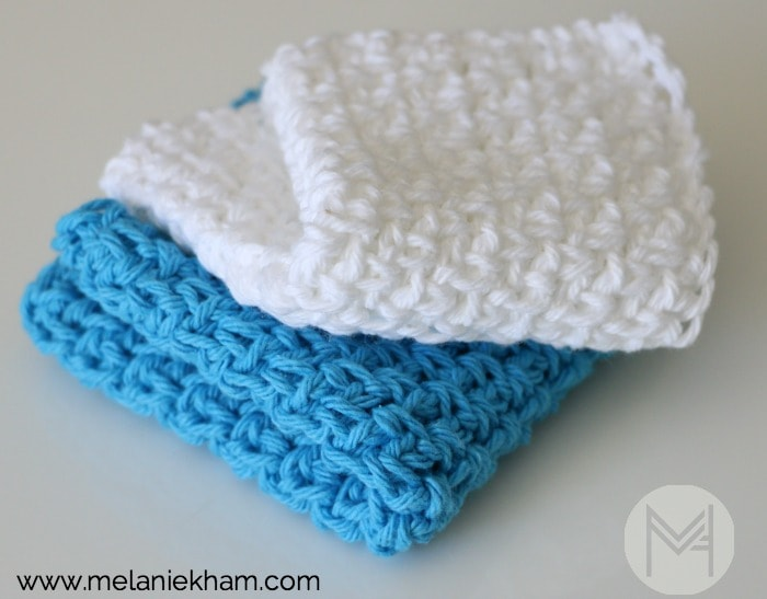 Easy Cotton Crochet Washcloth Tutorial Melanie Ham