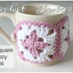 Crochet Granny Square Mug Cozy Tutorial