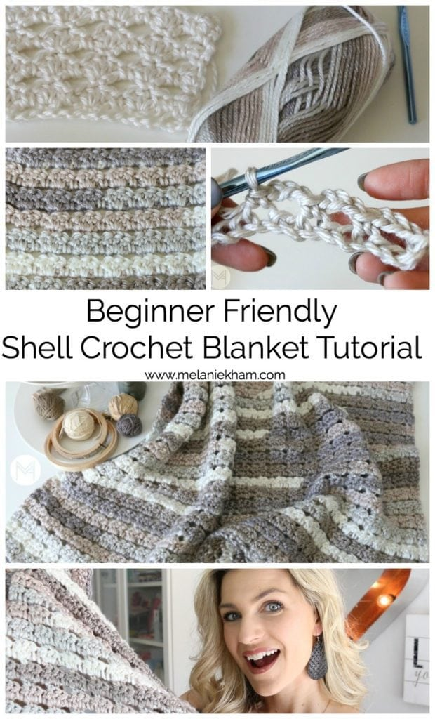 Shell Crochet Blanket Tutorial - Beginner Friendly