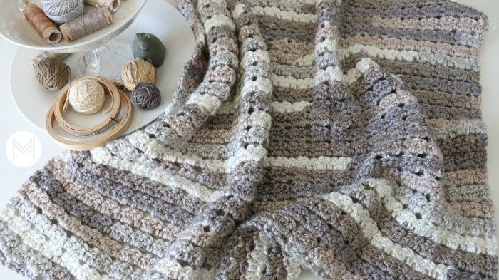 easy shell crochet blanket tutorial