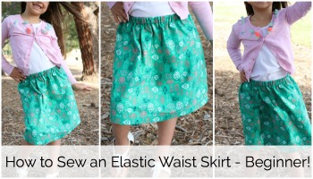 How to Sew an Easy Elastic Waist Skirt
