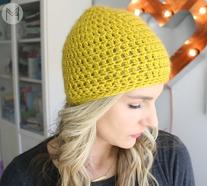 how to crochet a beanie