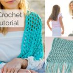 Beachy Easy Crochet Shawl Tutorial