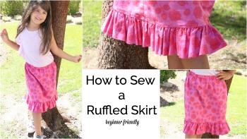 Ruffle Summer Skirt #3 Sewing Tutorial