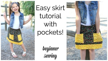 Summer Skirt #2 – Easy Elastic Skirt with Pockets!