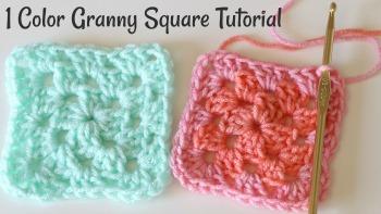 One Color Granny Square Crochet Tutorial