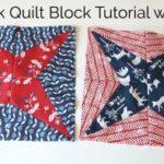 Firework Quilt Block Tutorial