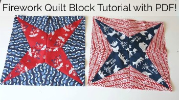 Firework Quilt Block Tutorial
