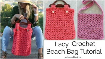 Lacy Beach Bag Crochet Tutorial