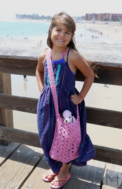 kids crochet beach bag