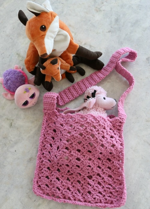 kids crochet bag tutorial
