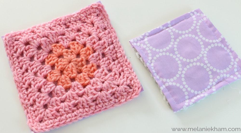 sew crochet to fabric