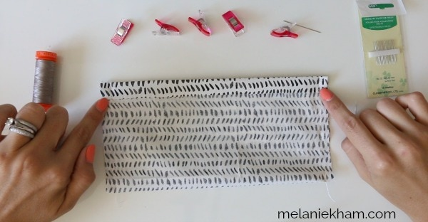 crochet zip pouch lining