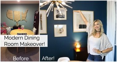 Modern Dining Room Makeover