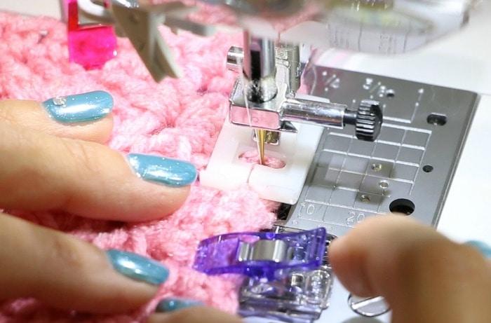 crochet on sewing machine
