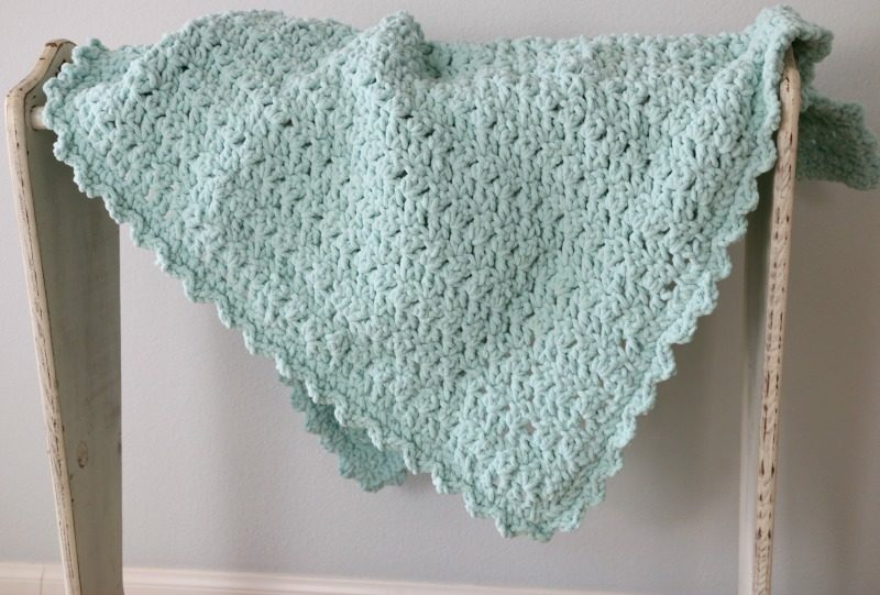 Add A Border To The Easy Crochet Baby Blanket Tutorial