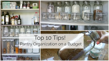 Organize your Pantry on a Budget