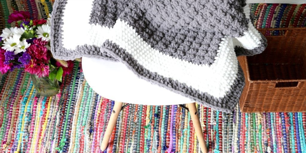 Beginner Border Crochet Baby Blanket