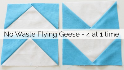 No Waste Flying Geese – 4 at 1 time