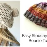 Easy Slouchy Crochet Beanie – Treble stitch
